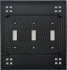 craftsman style light switches arts crafts mission style oil rubbed bronze three gang switch