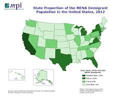 us map middle states middle eastern and immigrants in the united states