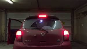 nissan almera tail light 2015 nissan micra sr led tail lights youtube