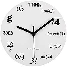 Wall Clock Design Amazon Com Decodyne Math Clock Discontinued By Manufacturer