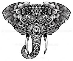 black elephant tattoo design for men on sleeve photo 3 photo