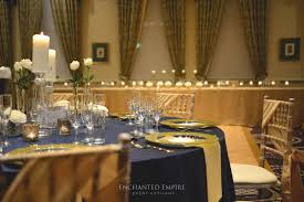 navy and gold wedding theme styled by enchanted empire event