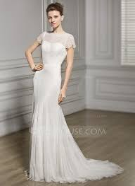 scoop neck lace wedding dress trumpet mermaid scoop neck sweep lace wedding dress