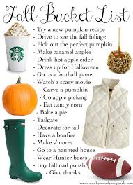 thanksgiving and fall ideas fall list of items to do