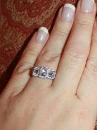 henri daussi engagement rings reduced henri daussi three cushion cut pave set
