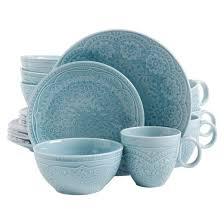 gibson alemany 16pc dinnerware set aqua target