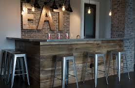 Barnwood Bar Stools 27 Basement Bars That Bring Home The Good Times