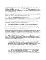 rental lease agreement word template free louisiana standard residential lease agreement template