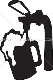 cartoon beer black and white beer tap u0026 cup production ready artwork for t shirt printing