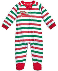 family pajamas 1 pc team santa footed pajamas baby boys or baby