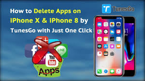 how to delete apps on iphone x u0026 iphone 8 by tunesgo with just one