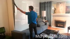 Murphy Sofa Bed by Space Saving Tips For Small Living With Murphy Sofa Wall Bed Youtube