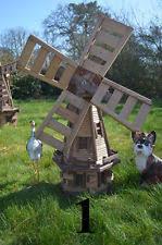 wooden garden windmills ebay