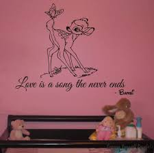 bambi wall stickers sticker creations bambi wall art decal wall decals wall stickers wall quotes