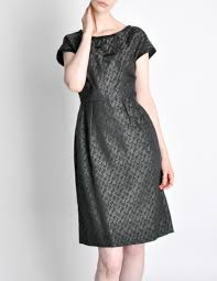 vintage 1960s woven black and grey cocktail dress from amarcord