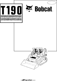 bobcat t190 compact loader user manual