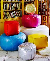 Leather Moroccan Ottoman by Moroccan Poufs U0026 Leather Ottomans Moroccan Poufs Com