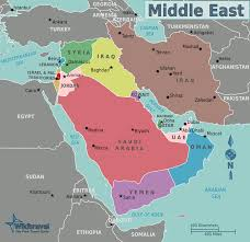 Middle Eastern Map Middle East Geography Map Karmaboxers