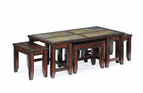 furniture coffee table with ottomans underneath coffee table