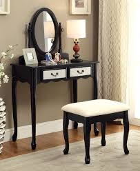 adrianna makeup vanity table set furniture of america dk6431