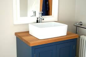 Wooden Bathroom Furniture Uk Bespoke Bathroom Sink Cabinets Constructed From Oak