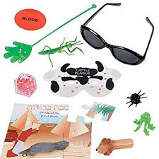 passover plague masks factory card and party outlet passover bag of plagues