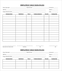 employee sign in sheet template 5 free pdf documents download