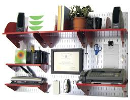 wall control office wall mount desk storage and organization kit