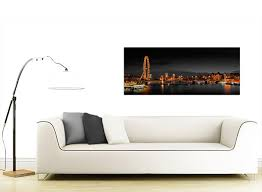 panoramic canvas wall art of london eye at night for your living room item number 1186