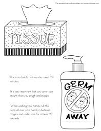 Hand Washing Coloring Sheets - kid color pages sick day and spreading germs