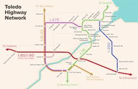 Toledo Ohio Map Toledo U0027s Highways As A Subway Map Ohio Dave
