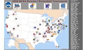 Clemson University Map 2008 Ncaa Division I Basketball Tournament Map Billsportsmaps Com