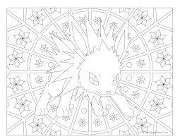 135 jolteon pokemon coloring page windingpathsart com
