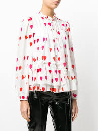 print blouse mcqueen petal print blouse 1 795 buy ss18