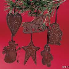 rustic ornaments that would look great in a log cabin or