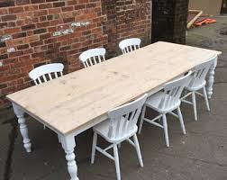 Hand Made Bespoke Reclaimed Wood Furniture To By MadeInTheCellar - Farmhouse kitchen table with drawers