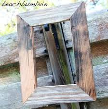 Picture Frames Made From Old Barn Wood 8x10 Old Barn Wood Picture Frame Made From By Oldredbarnshop