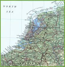 Show Me A Map Of Europe by Detailed Map Of Netherlands With Cities And Towns