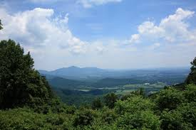 prettiest states blue ridge mountains virginia summertime view from scenic blue