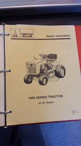deutz allis 1800 series tractor service repair manual u2022 84 00