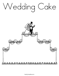 wedding cake coloring twisty noodle