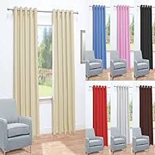 Curtains 240cm Drop Ready Made Eyelet Blackout Curtains Window Treatment Pony Dance Thermal