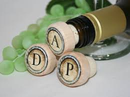 thank you favors monogram wine stoppers personalized wine stopper wedding favors