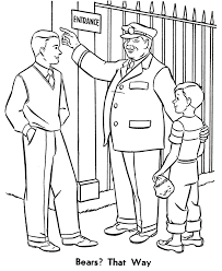 zookeeper coloring pages trip zoo coloring