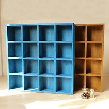 vintage wood 16 cubby 4 layer tray zakka storage cabinet laminated