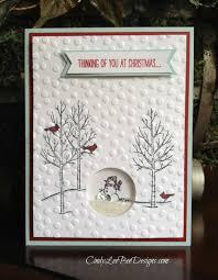 su white christmas shaker card cindy lee bee designs
