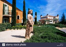 france var saint tropez chateau de la messardiere hotel stock
