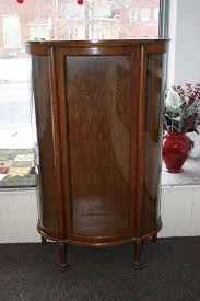 15 best collection of curved glass curio cabinet replacement