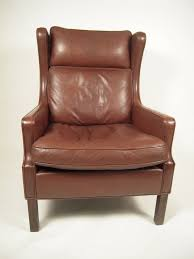 small leather chair with ottoman furniture elegant leather wingback chair for home furniture ideas