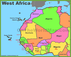 Blank African Map by Map Of West Africa